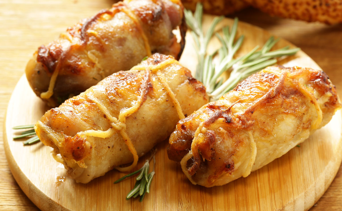turkey roulade with herbs