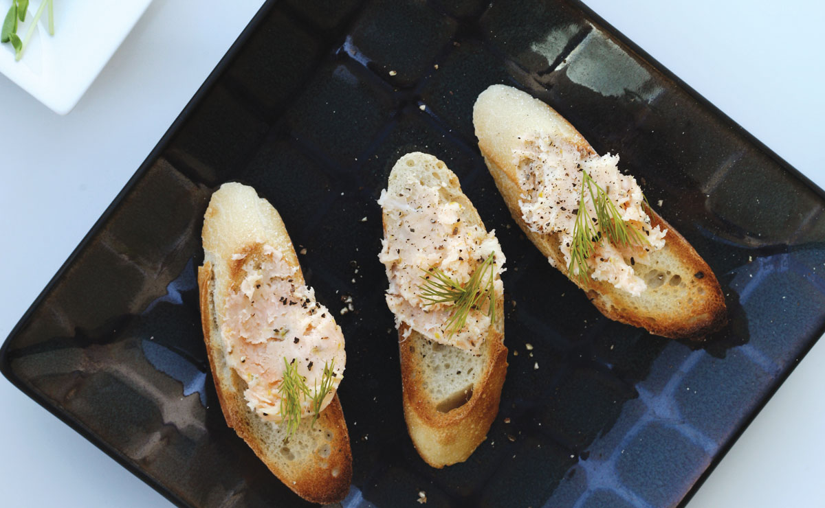 smoked salmon butter on toast