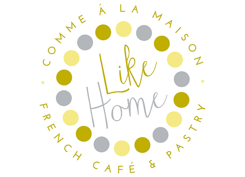 logo for like home french cafe in grand center