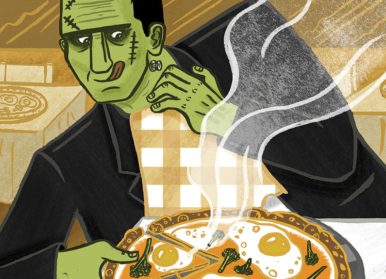 frankenpizzas illustration