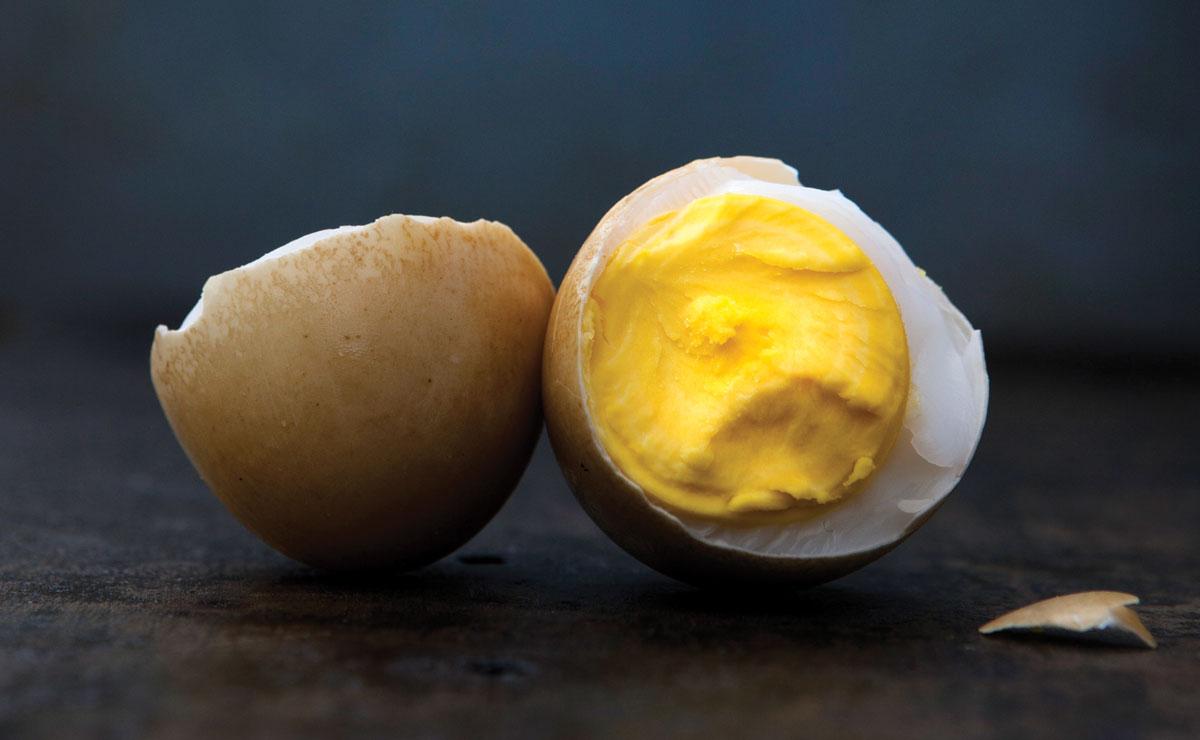 smoked duck eggs
