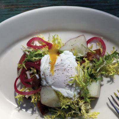 Schlafly Tap Room's Poached egg salad