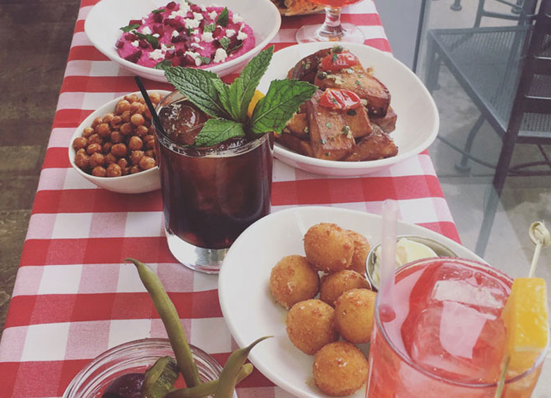 aperitivo menu from pastaria in clayton