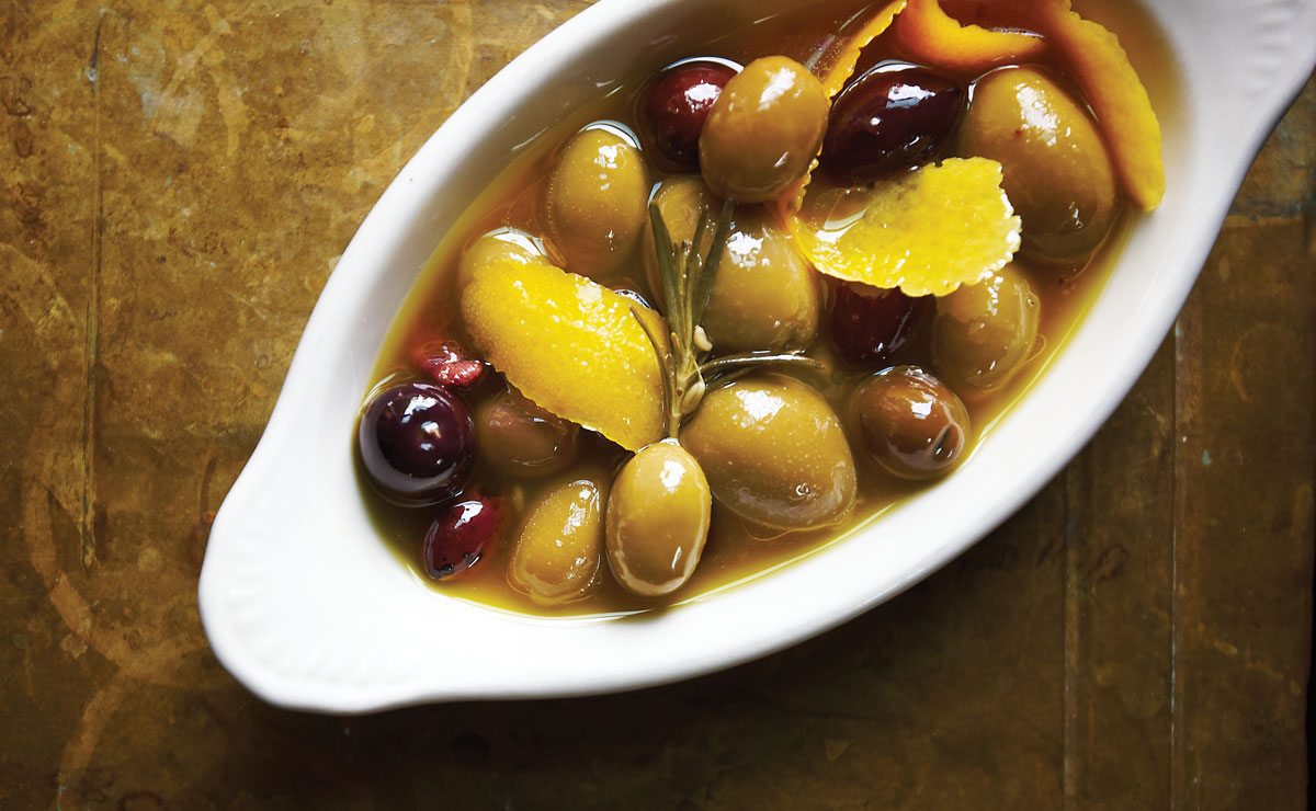 marinated olives from brasserie by niche