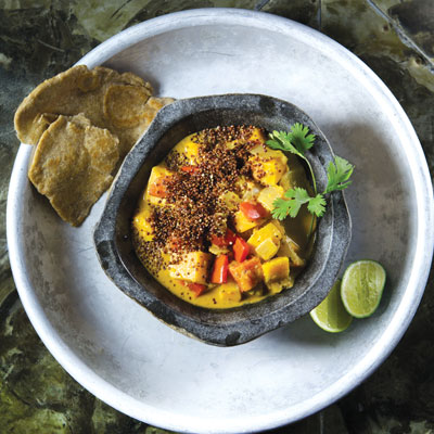 Boundary's Squash Curry with Crispy Quinoa