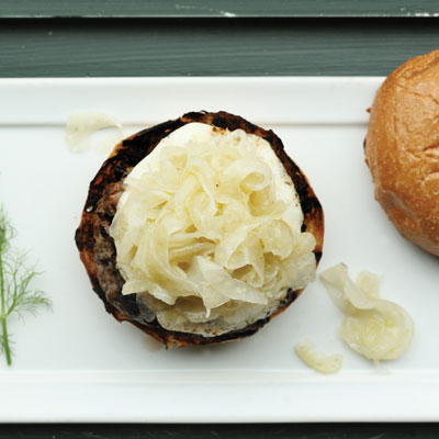 The Scottish Arms' Lamb Burger with Fennel Jam