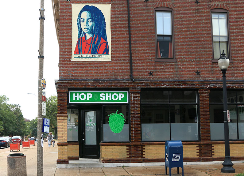 inside the saint louis hop shop on cherokee street