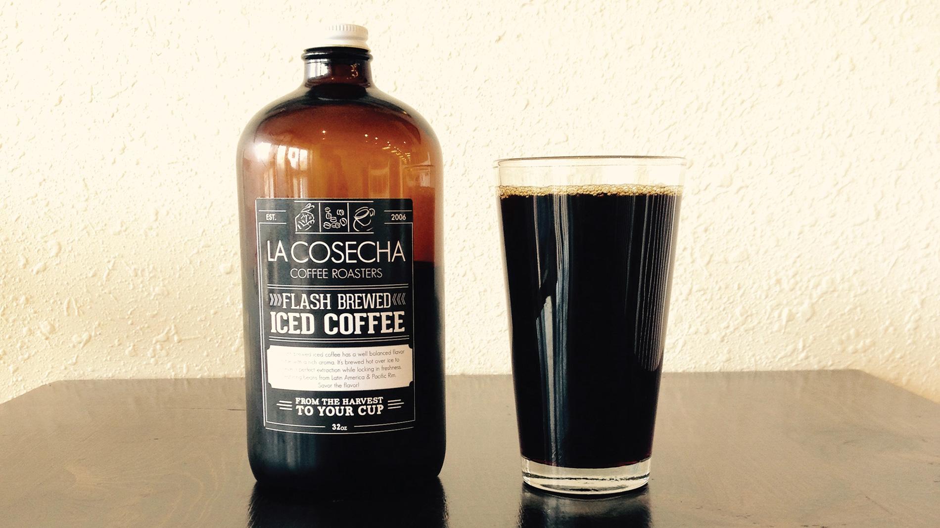 flash brew from La Cosecha Coffee Roasters