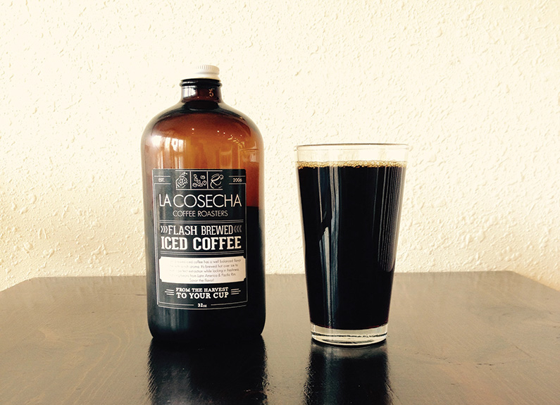 flash brew from La Cosecha Coffee Roasters
