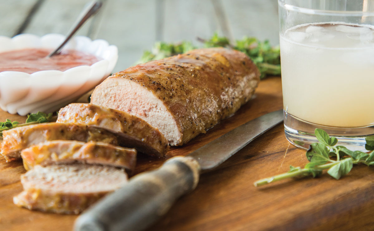 Pork Tenderloin with Rhubarb Glaze