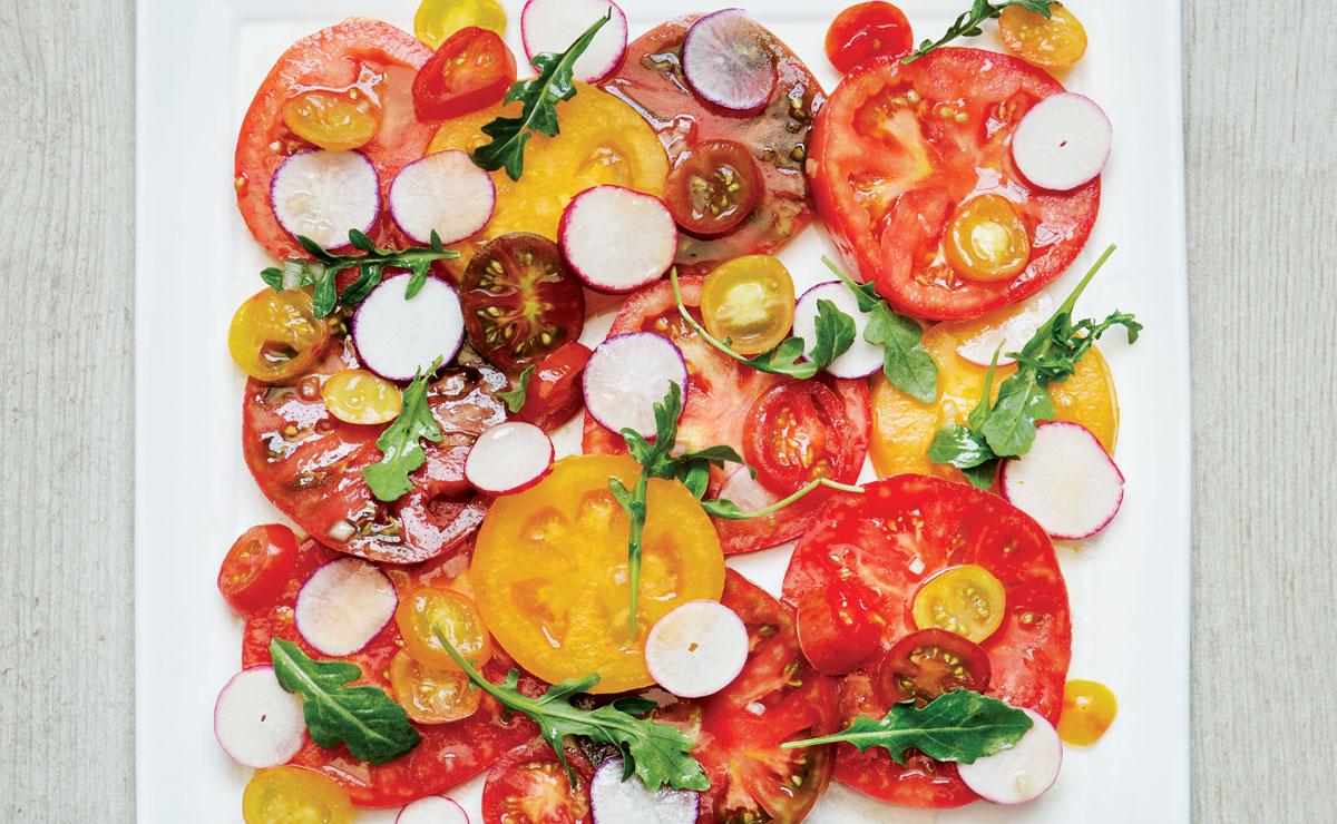 Tomato and Watermelon Radish Salad