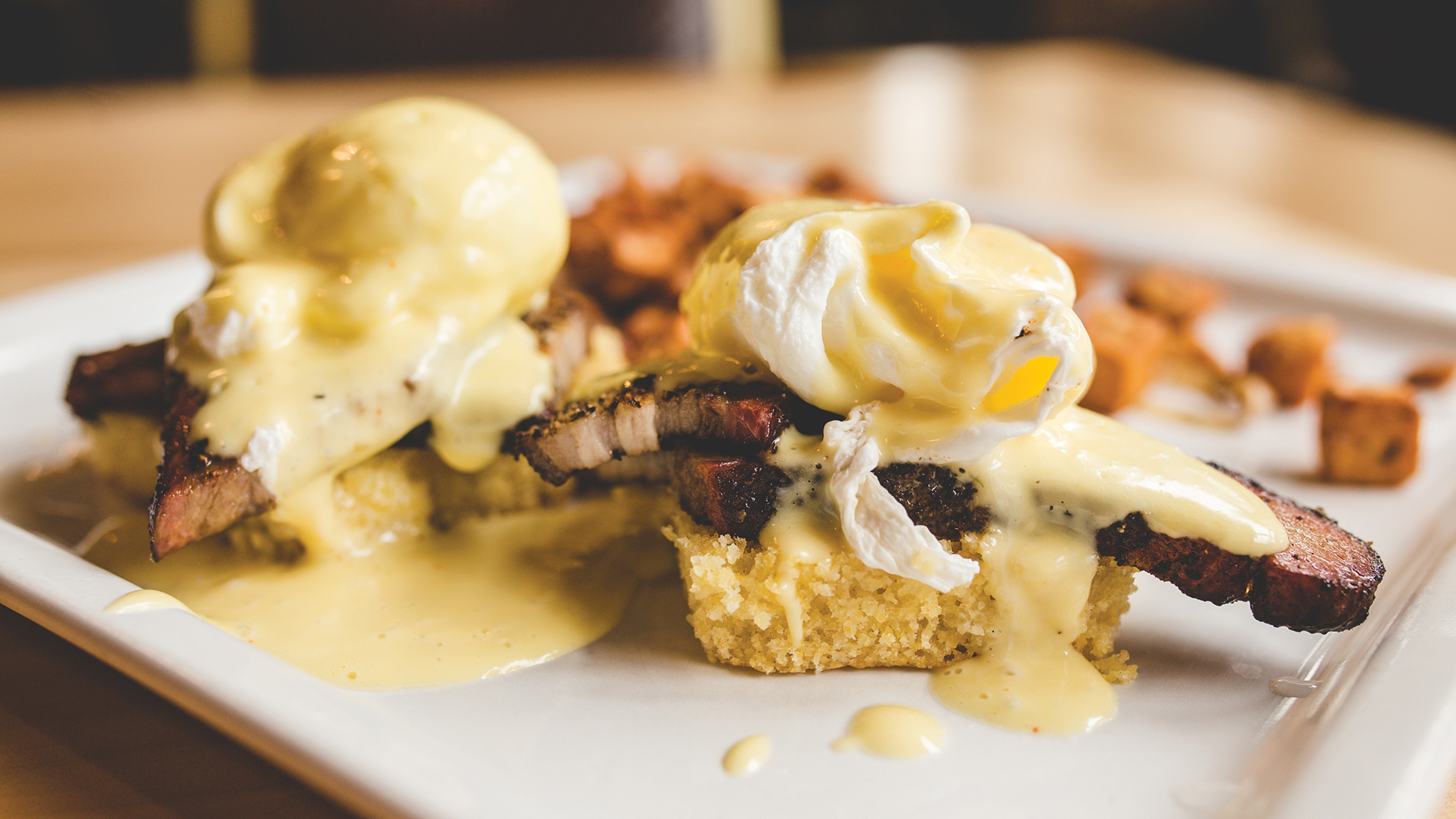 cornbread benedict from egg