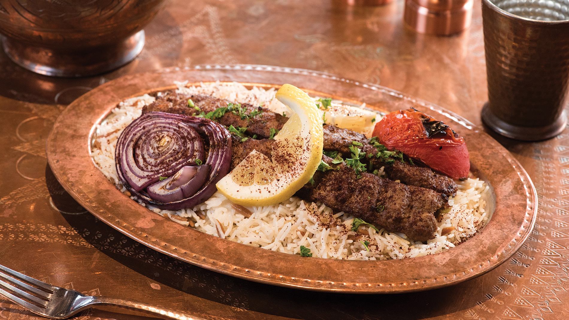 adana kebab from sheesh restaurant