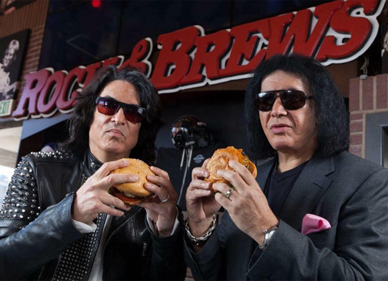 KISS members Gene Simmons and Paul Stanley
