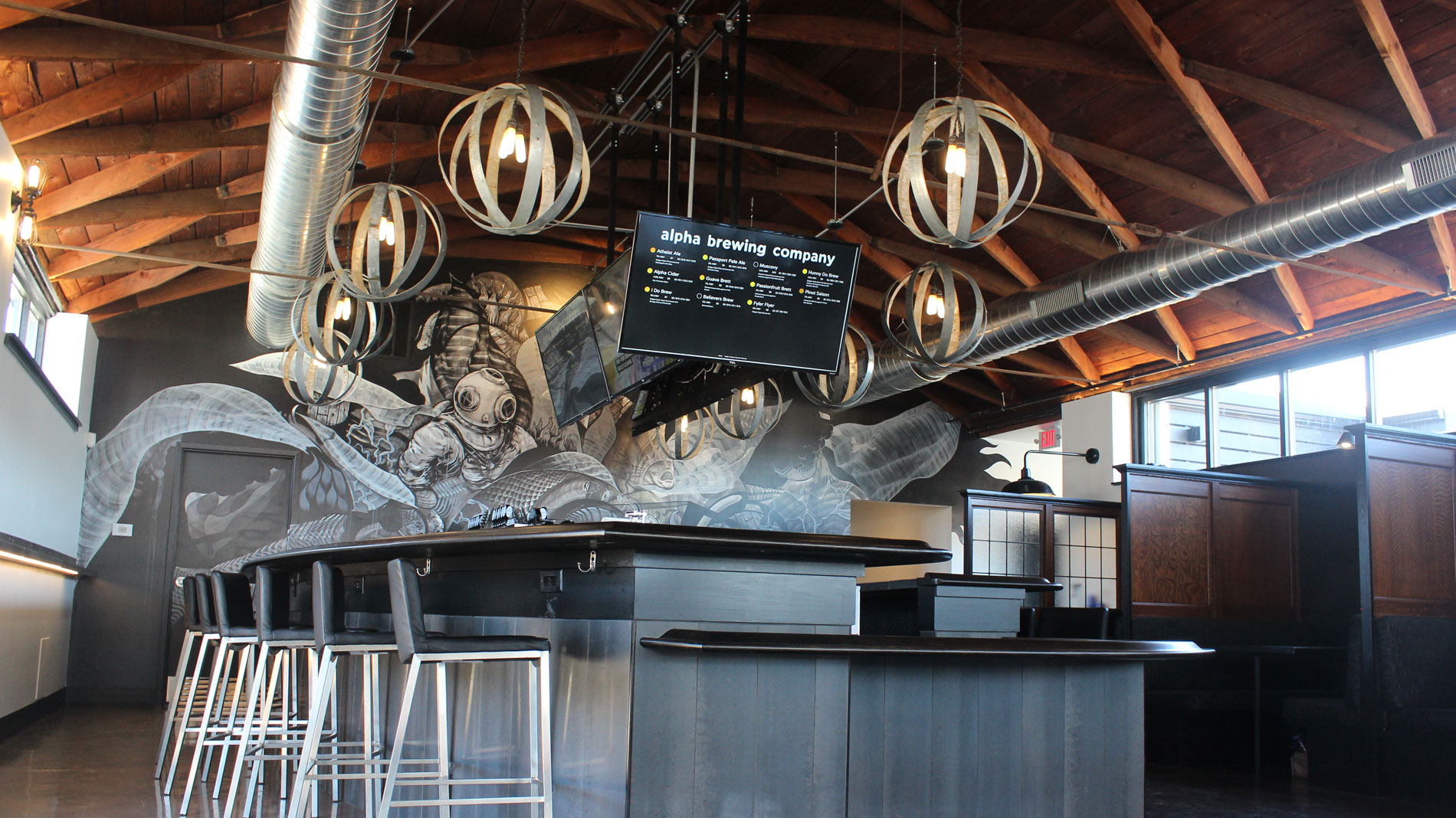 alpha brewing co. interior