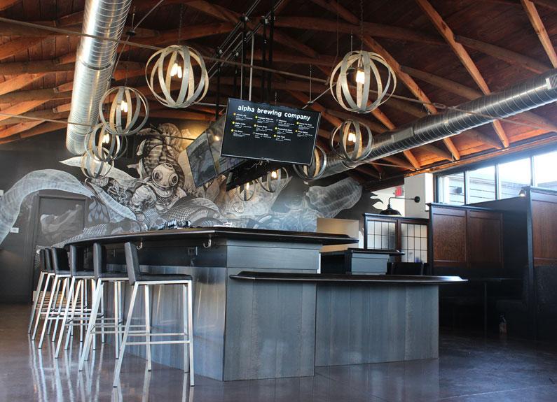alpha brewing co. interior