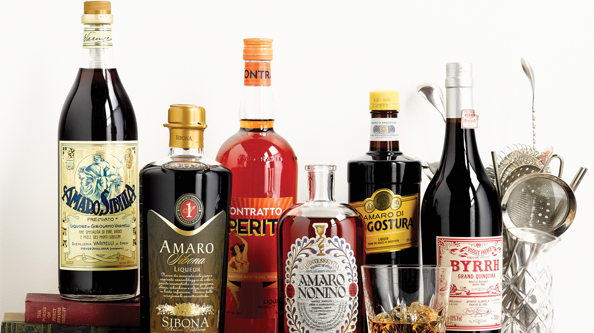 bitter liqueurs and aromatized wines