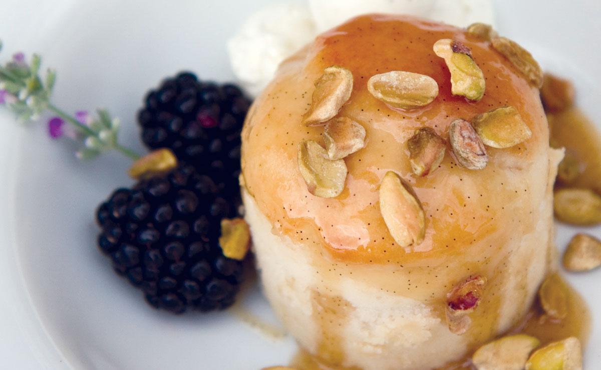Pear-Glazed Chardonel Cake