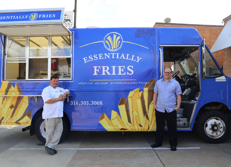Essentially Fries Food Truck owner Matt Borchardt and chef Steven Teters