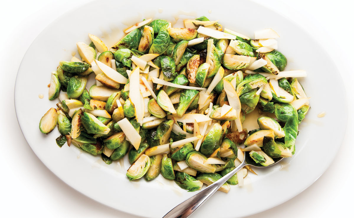 fried brussels sprouts salad