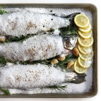 Trout Roasted in Salt, Italian Fisherman-Style