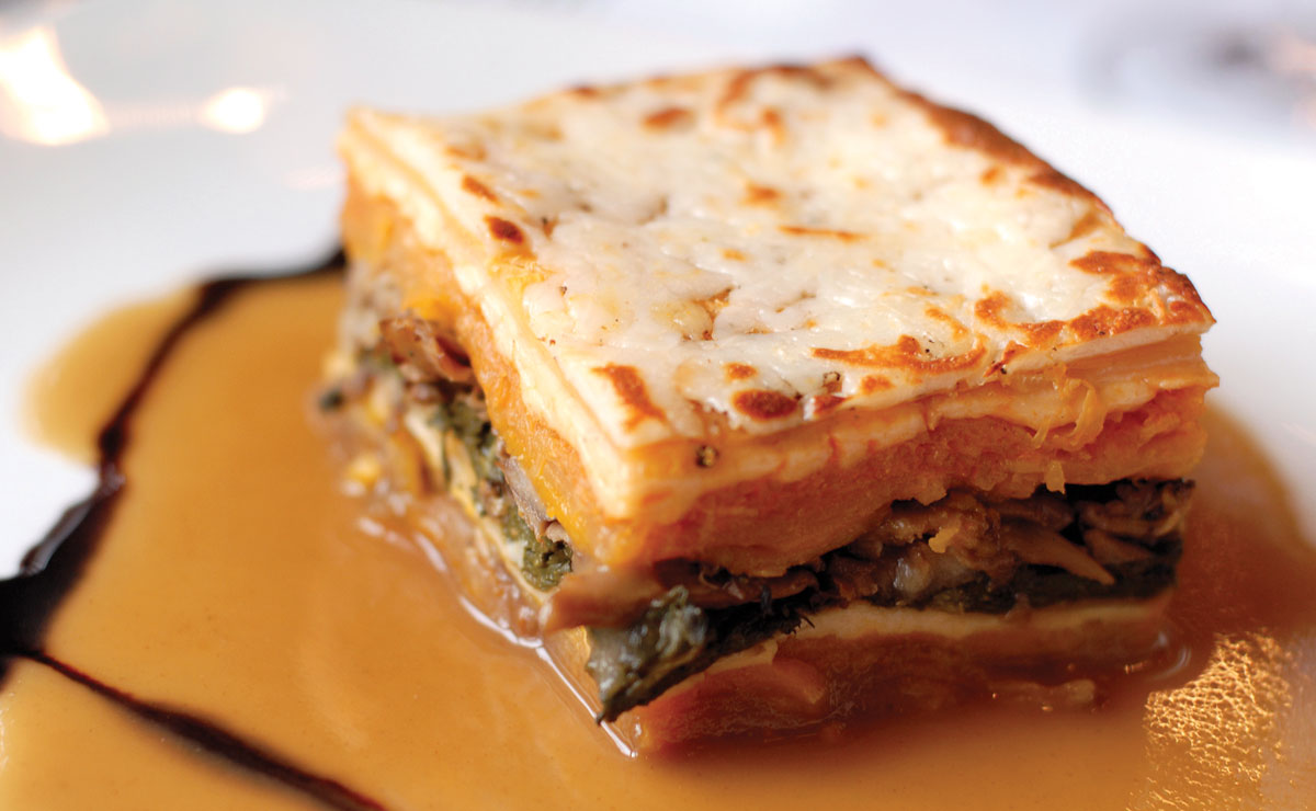 Winter Squash, Root Vegetable and Forest Mushroom Lasagna