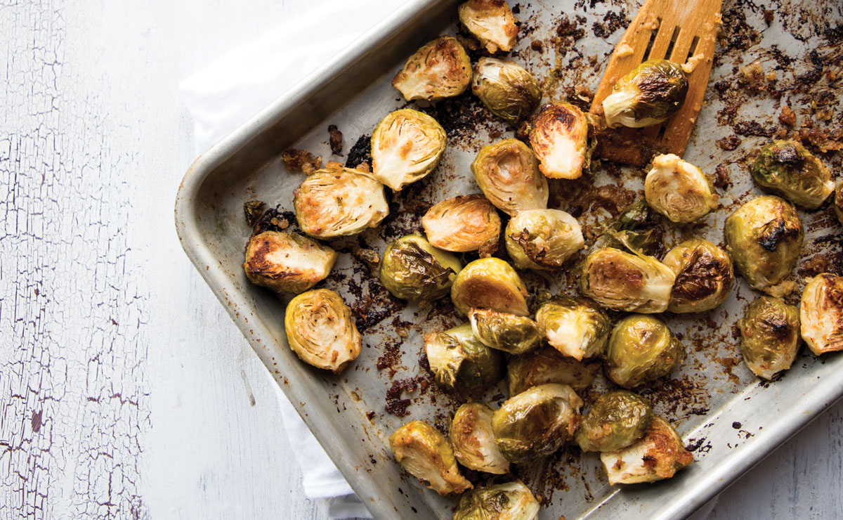 Miso-Roasted Brussels Sprouts