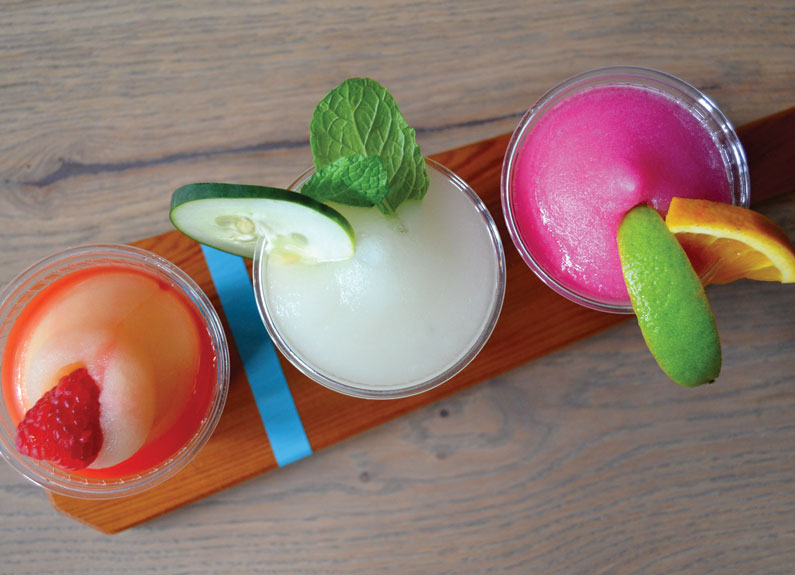 frozen cocktails at narwhal's crafted urban ice in st. louis