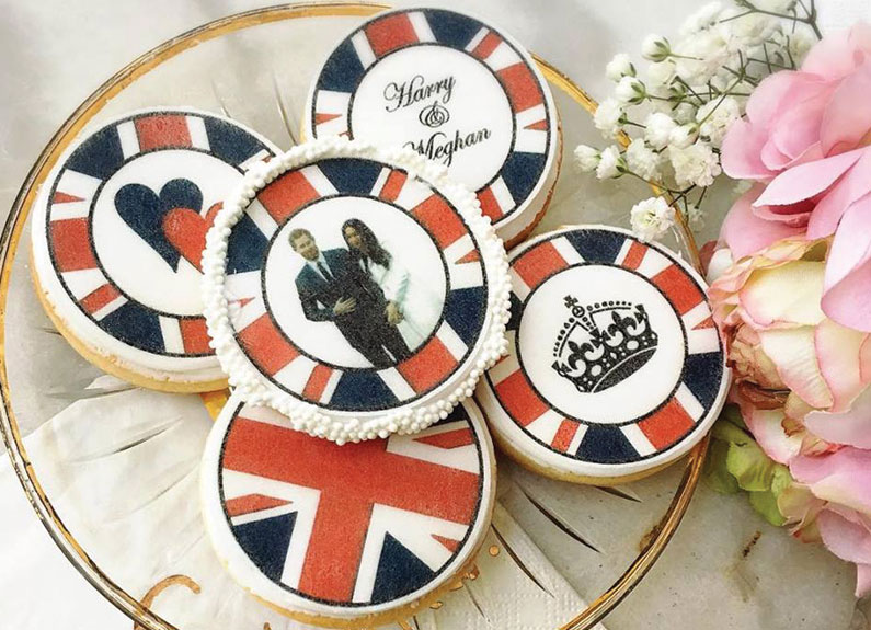 royal wedding cookies with prince harry and megan markle at la patisserie chouquette