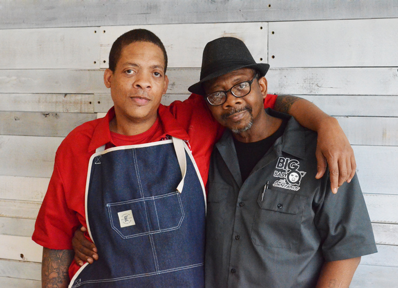 big baby q and smokehouse chef ben welch and his father and co-owner, bennie welch