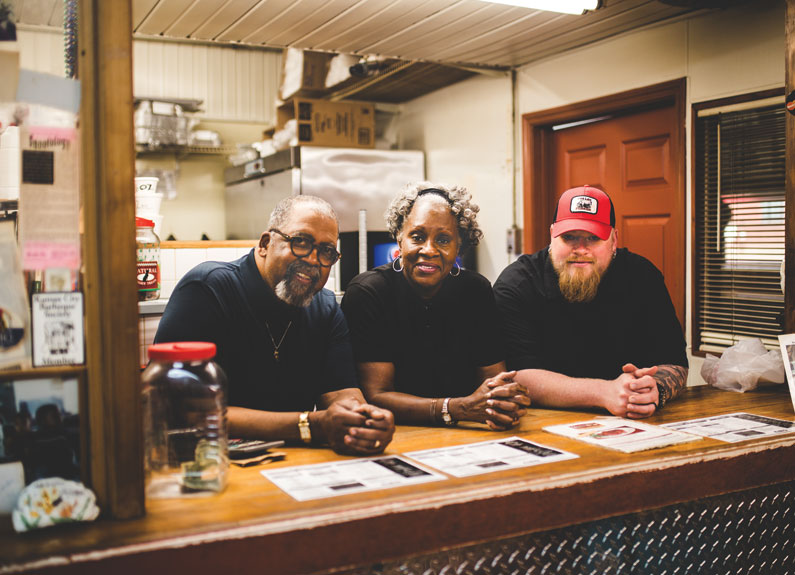 from left, smoki o's otis and earline walker and beast craft bbq's david sandusky