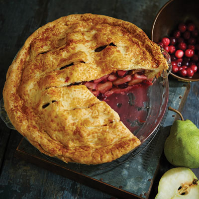 Pear Cranberry Cardamom Pie