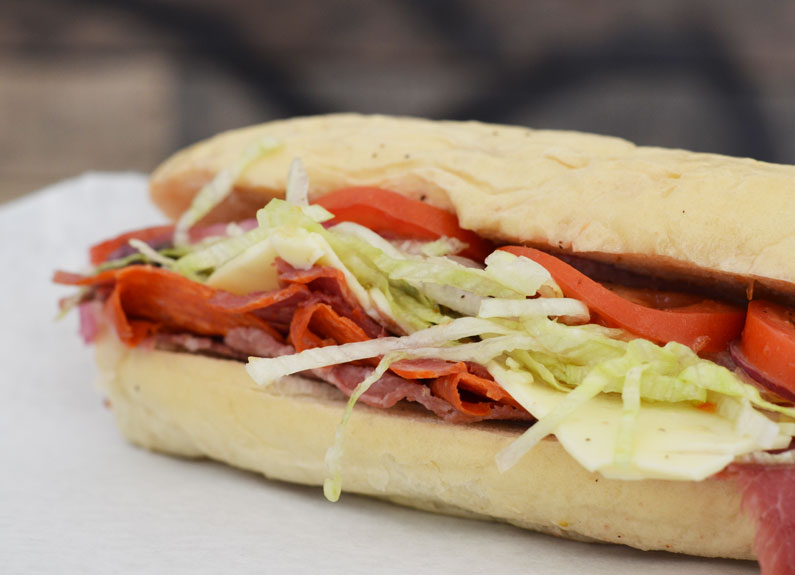 the goodfella italian sub at good buddy's tasty soups and sandwiches in st. louis