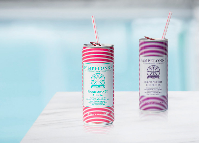 pampelonne wine spritzers by a pool