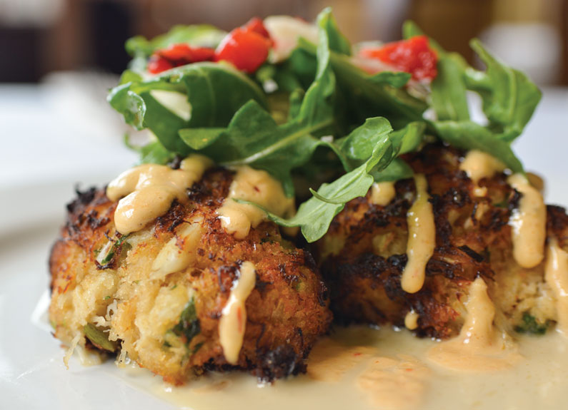maryland lump crabcakes at oceano bistro in clayton