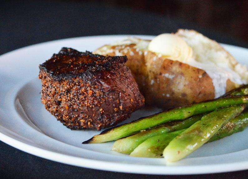 steak at hamilton's urban steakhouse & bourbon bar in st. louis