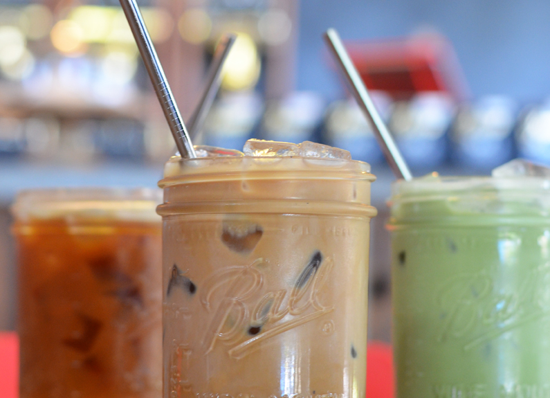 sump coffee serves resuable metal straws