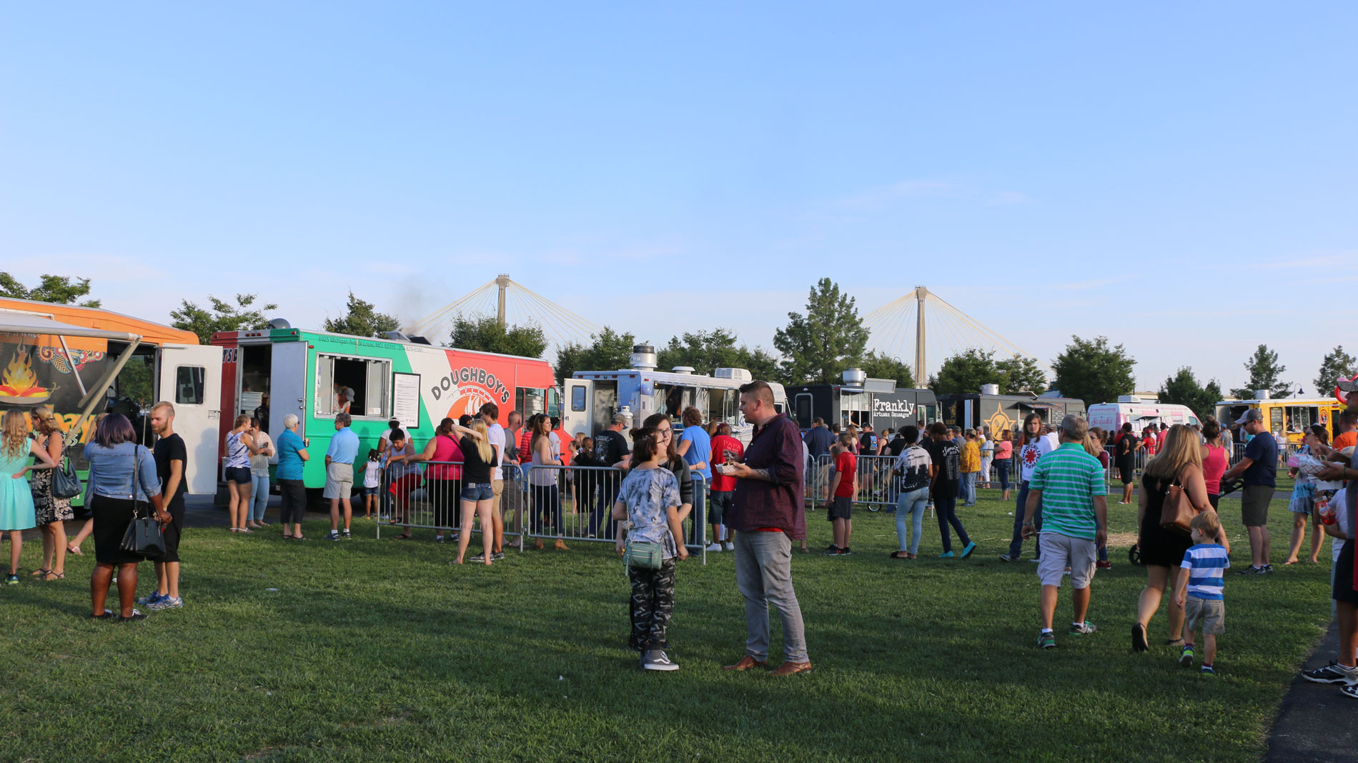 attendees at the alton food truck festival