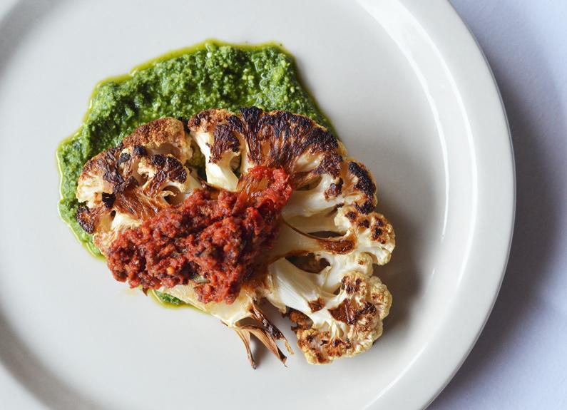 cauliflower steak at 50/fifty kitchen in st. louis