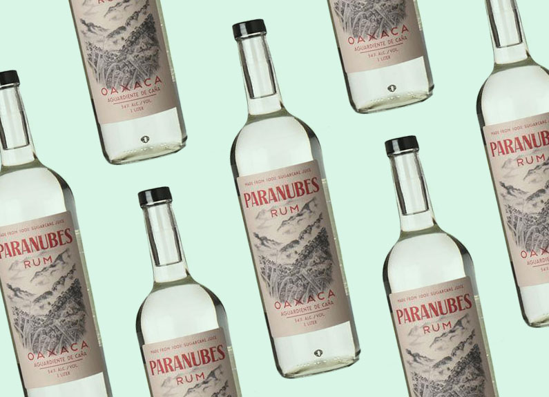 Paranubes Oaxaca Rum bottles