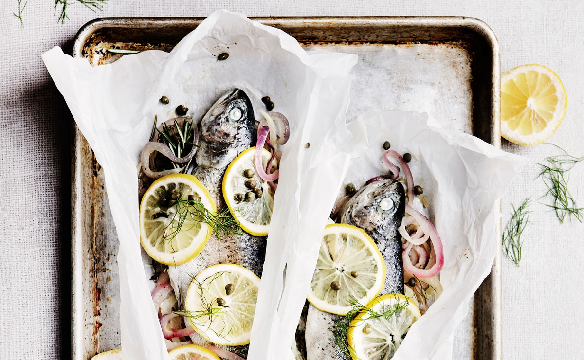 Trout en Papillote with Fennel