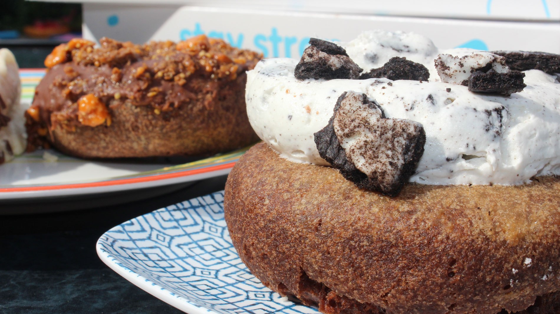 the cookies in your dreams doughnut at strange donuts in creve coeur features oreo buttercream