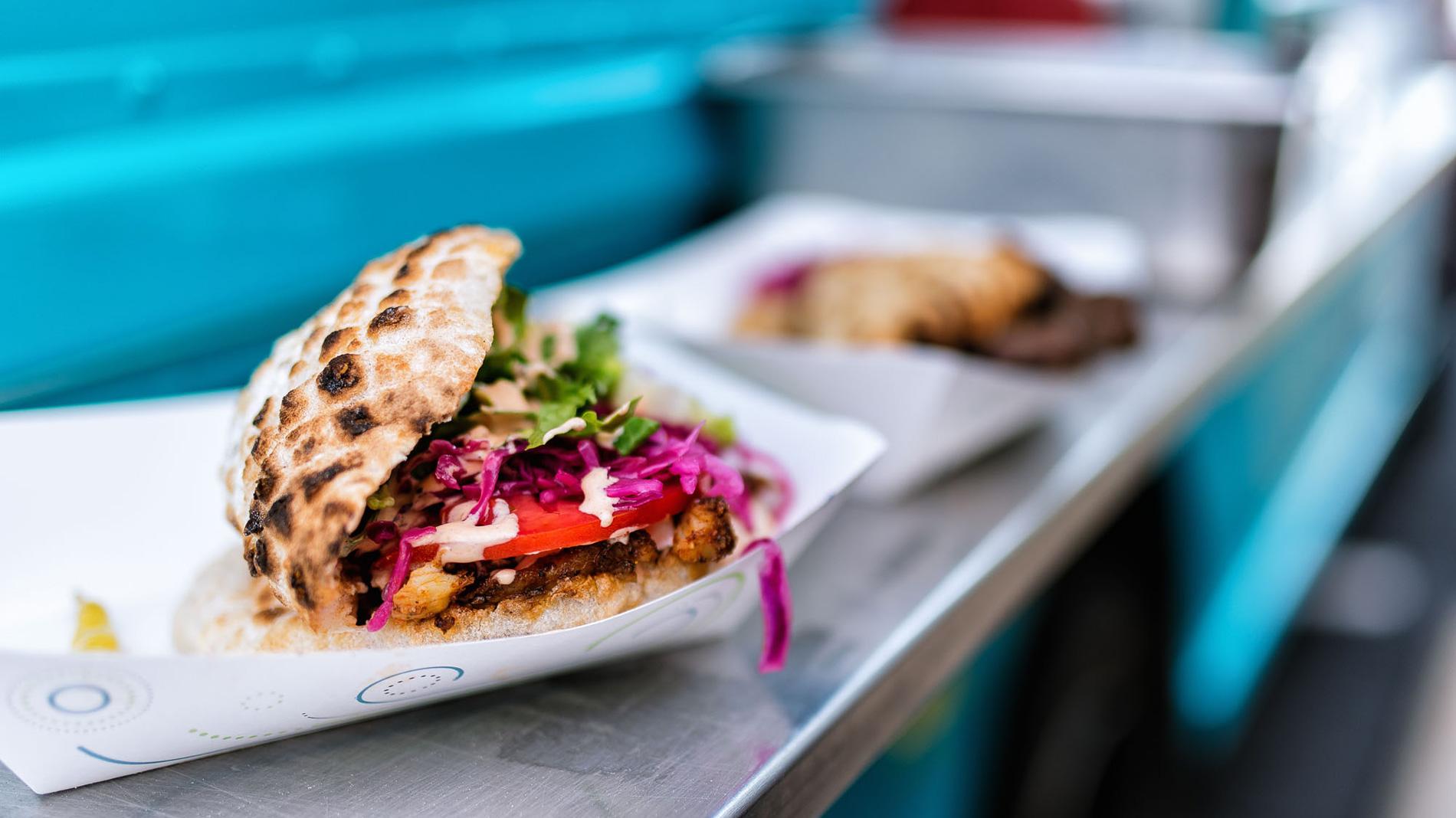 doner kebab at balkan treat box