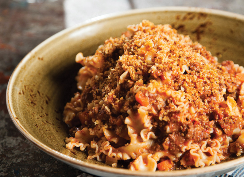 mafalda noodles with beef and pork ragù at basso in clayton