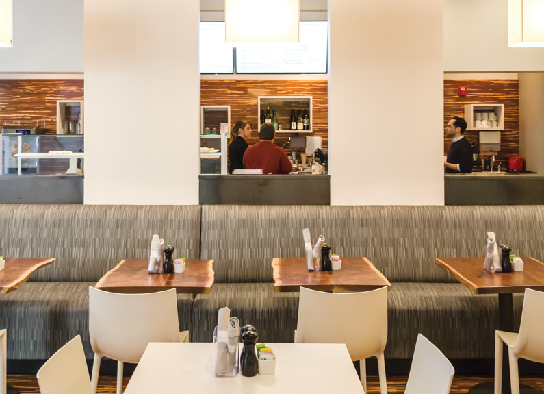 the dining room at whitebox eatery in clayton