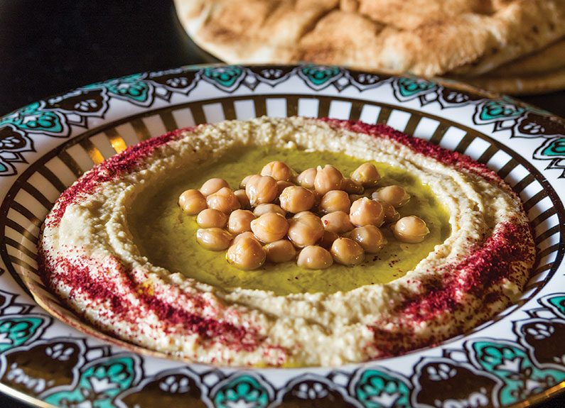 hummus plate from medina mediterranean grill in st. louis