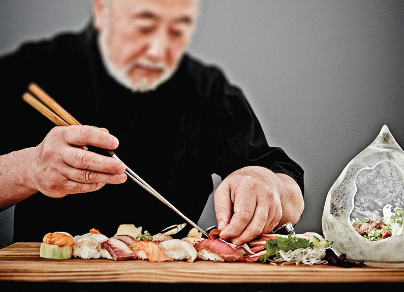sushi chef Naomi Hamamura