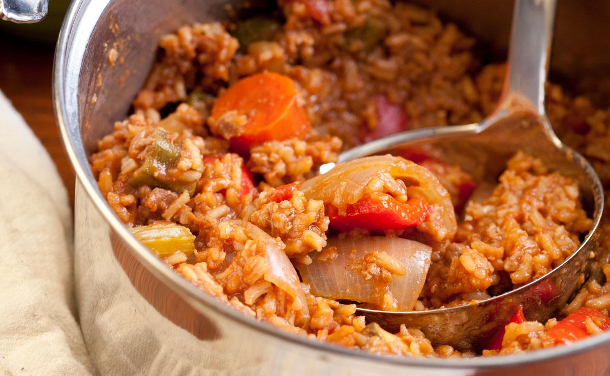 Everything-in-the-Crisper Jambalaya recipe