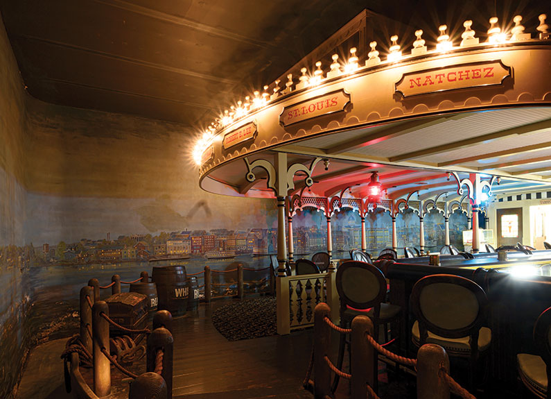 a carousel bar inside a restaurant
