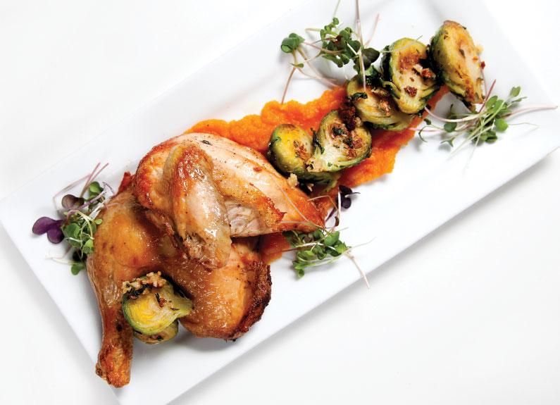 Roast chicken at Ibby's at Washington University